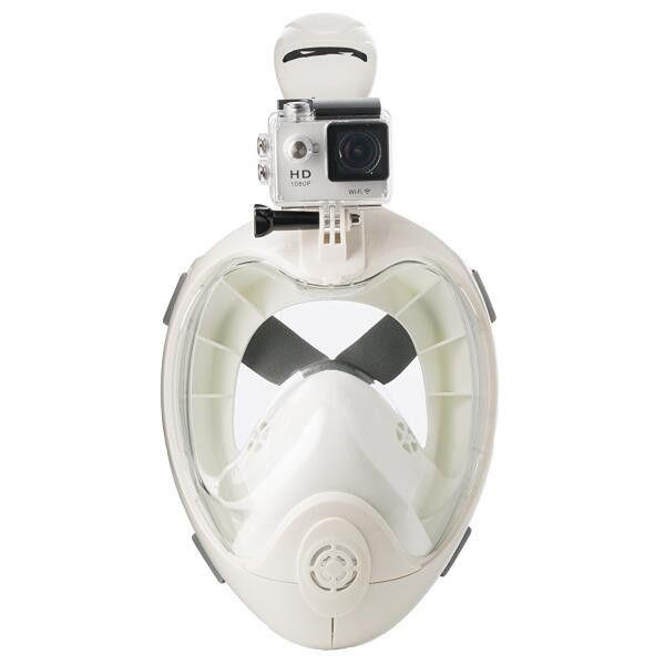 83033eeeb Máscara de esnórquel de cara completa con vista panorámica de 180 grados